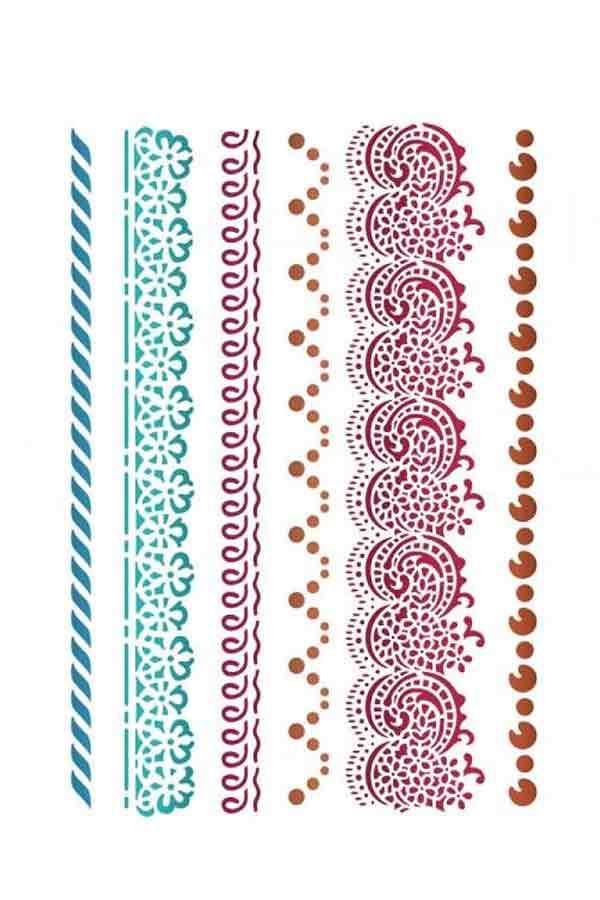 Στένσιλ ζωγραφικής πλαστικό 21x30cm Stamperia Border laces KSG412