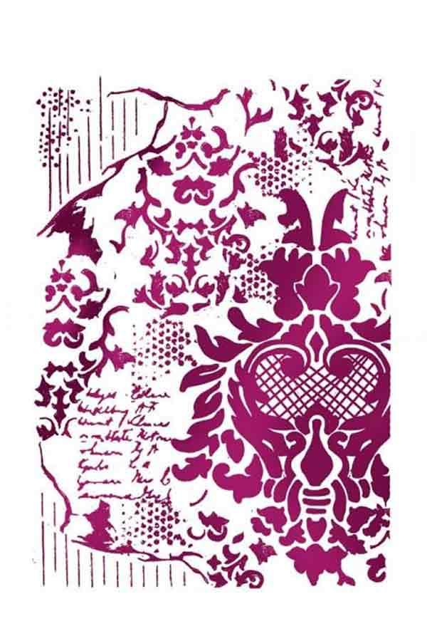 Στένσιλ ζωγραφικής πλαστικό 21x30cm Stamperia Decoration with writings KSG405