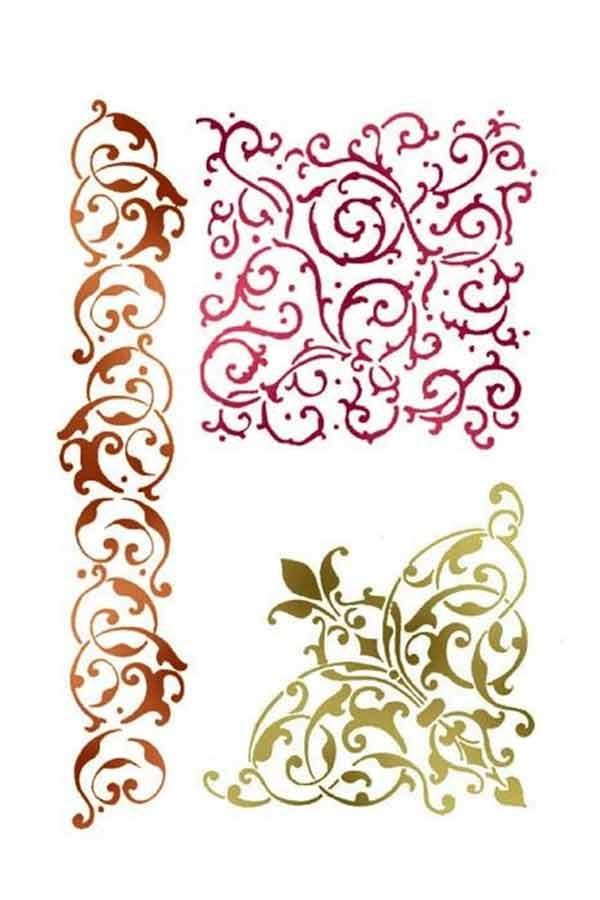 Στένσιλ ζωγραφικής πλαστικό 21x30cm Stamperia Lace volutes and corner KSG357