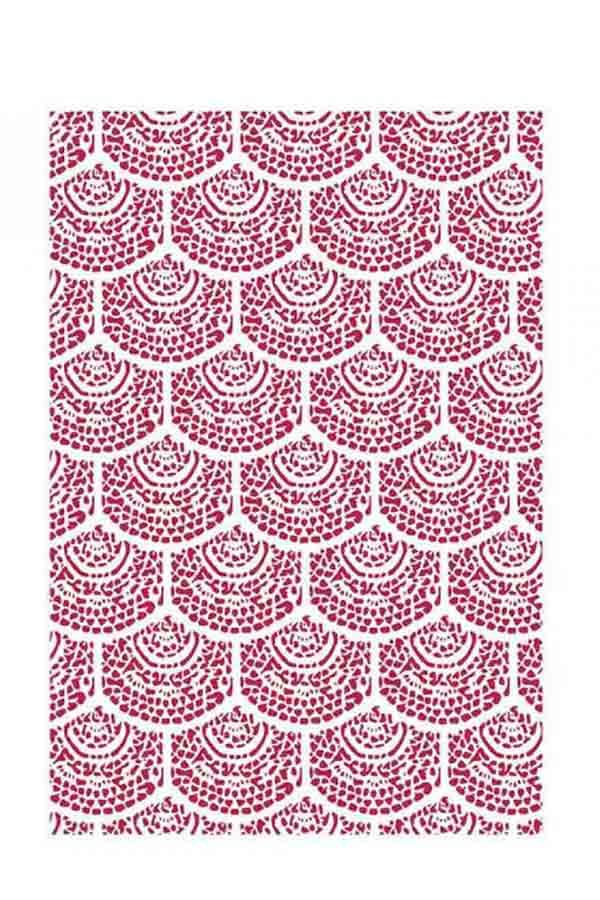 Στένσιλ ζωγραφικής πλαστικό 21x30cm Stamperia Wallpaper KSG438