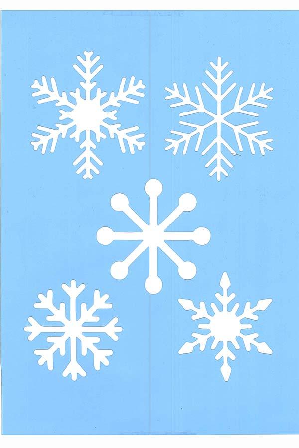 Στένσιλ ζωγραφικής πλαστικό 30x21cm Χιονονυφάδες