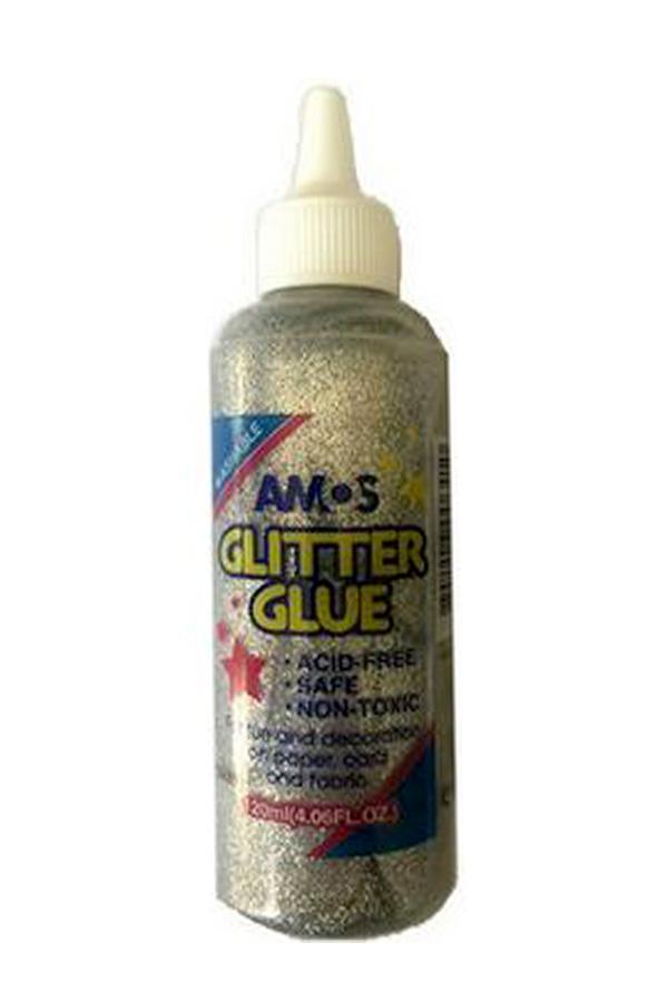 Κόλλα glitter AMOS ασημί 120ml GCL120P5