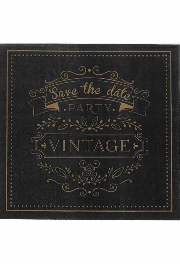 Χαρτοπετσέτα Decoupage 33x33 1τμχ Vintage 0005157