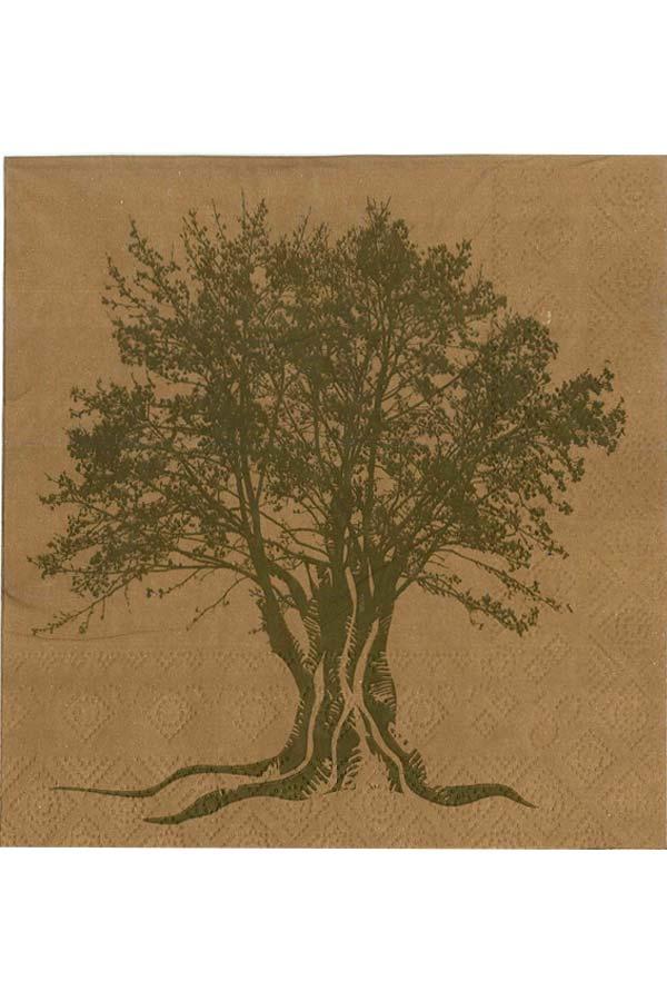 Χαρτοπετσέτα Decoupage 33x33 1τμχ Δέντρο ελιάς 0005210