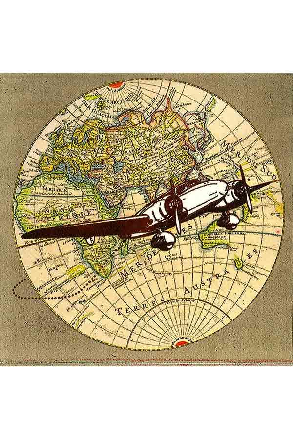 Χαρτοπετσέτα Decoupage 33x33 1τμχ Voyage 0004770
