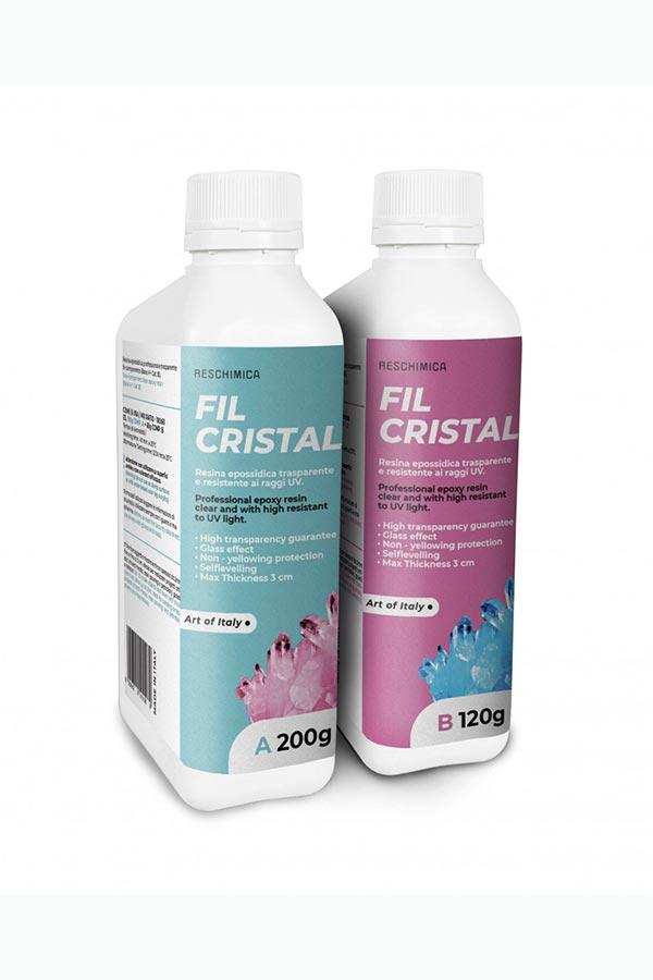 Υγρό γυαλί ΚΙΤ Fil Cristal για χύτευση 3cm RESCHIMICA