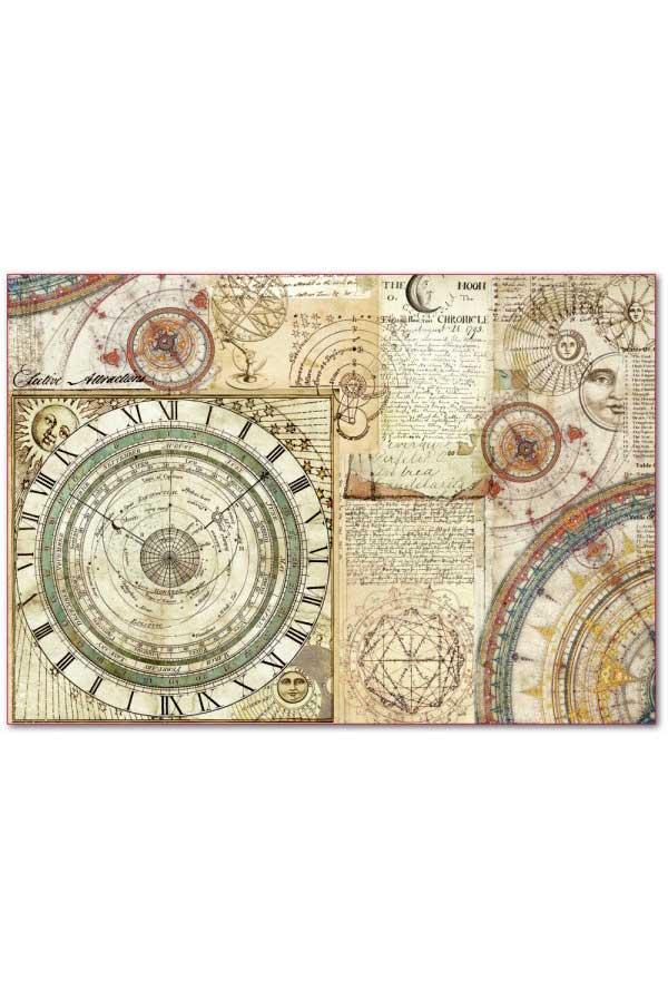 Ριζόχαρτο Decoupage Alchemy Astronomy 33x48cm Stamperia DFS392