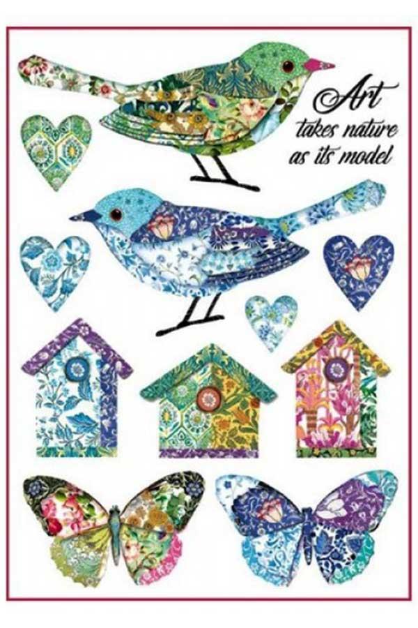 Ριζόχαρτο Decoupage Birds and Fantasy Nests 21x29,7cm Stamperia DFSA4297