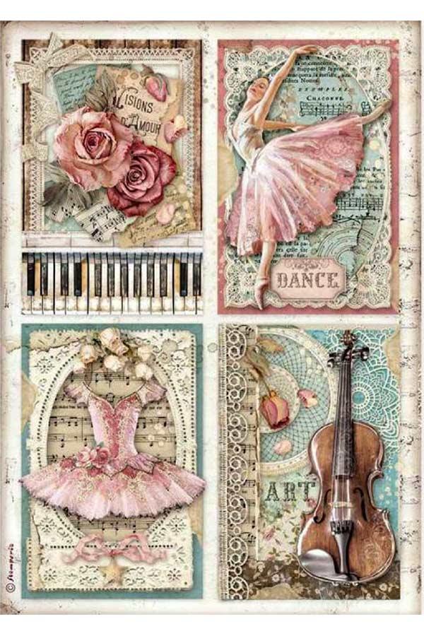 Ριζόχαρτο Decoupage Cards 21x29,7cm Stamperia DFSA4542