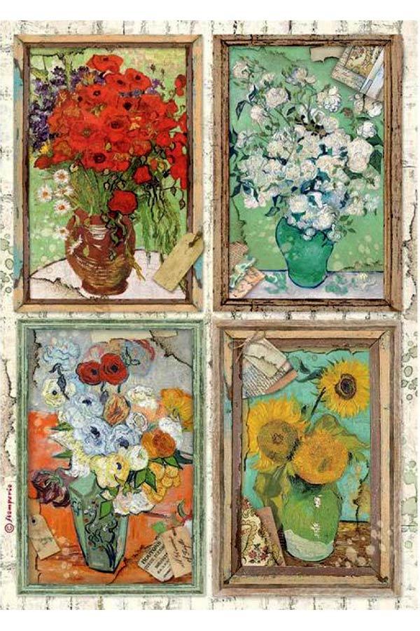 Ριζόχαρτο Decoupage Van Gogh 21x29,7cm Stamperia DFSA4549
