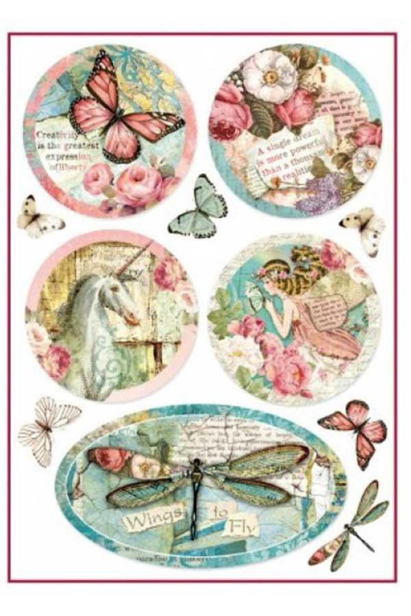 Ριζόχαρτο Decoupage Wonderland Fantasy Decorations 21x29,7cm Stamperia DFSA4270