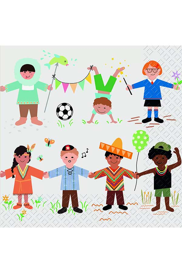 Χαρτοπετσέτα Decoupage Stewo 33x33 1τμχ Kara παιδάκια 2572656060