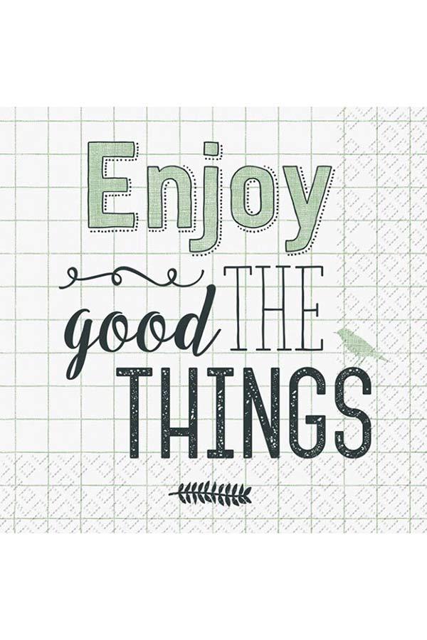 Χαρτοπετσέτα Decoupage Stewo 33x33 1τμχ Enjoy the good things 2572671146
