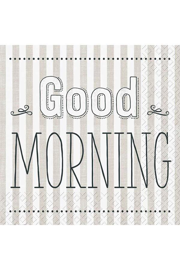 Χαρτοπετσέτα Decoupage Stewo 33x33 1τμχ Good morning 2572671250