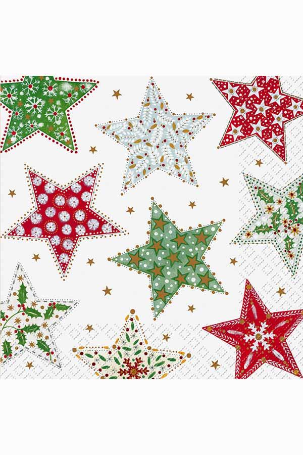 Χαρτοπετσέτα Decoupage Stewo 33x33 1τμχ Γιορτινά αστέρια 2572685845