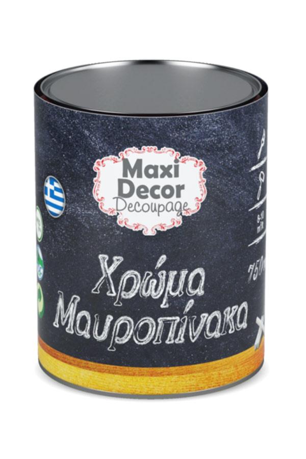 Χρώμα για μαυροπίνακα 750ml Maxi Decor μαύρο