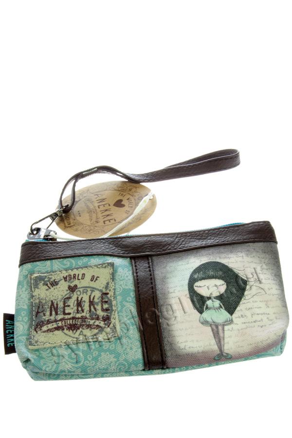 Πορτοφόλι με φερμουάρ καφέ Anekke - Dreams 20709.5