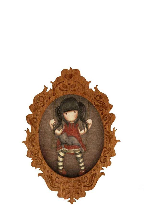Καρφίτσα πέτου Santoro gorjuss Ruby 616GJ02