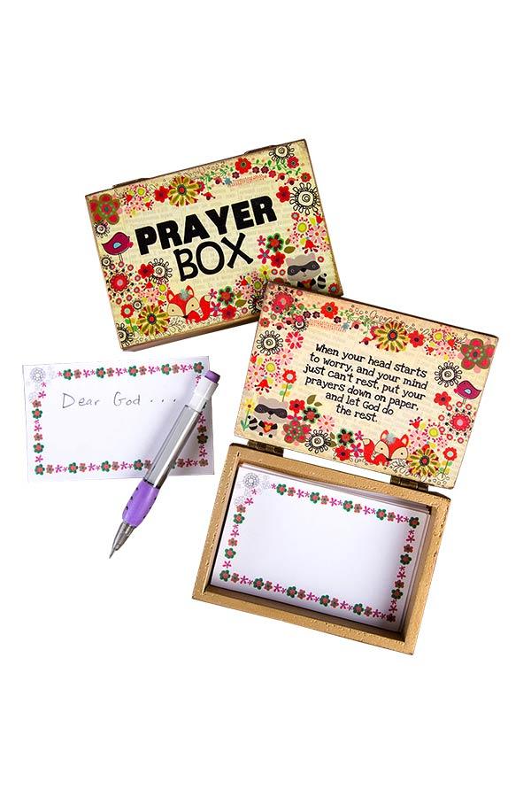 Ξύλινο κουτί ευχών Prayer box Natural Life PBX023
