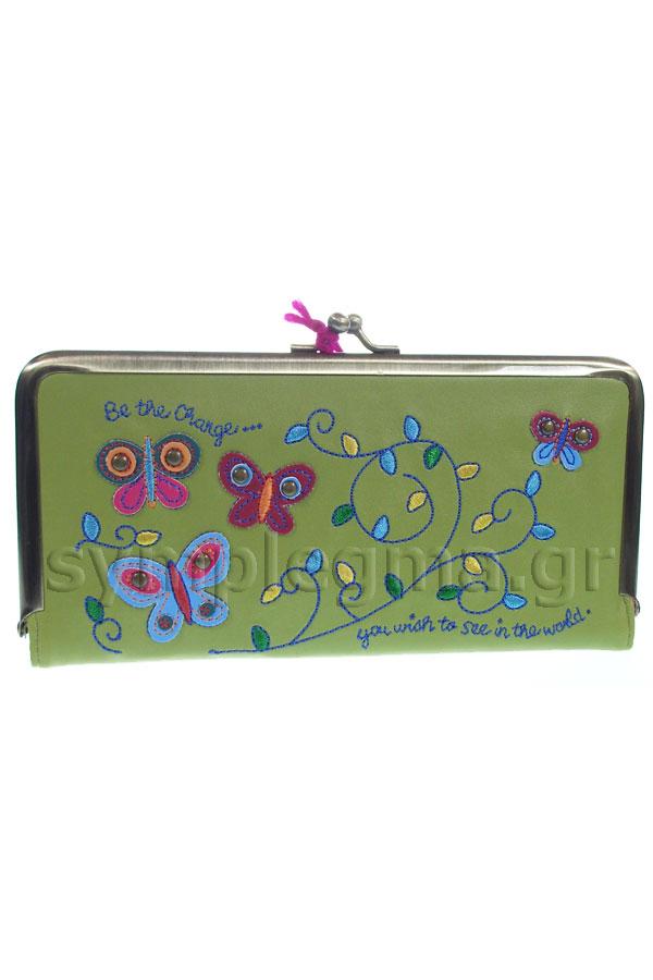 Πορτοφόλι με κούμπωμα Natural Life - Be the change WLT014