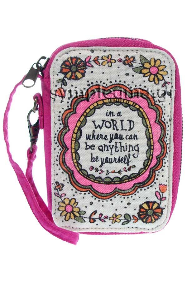 Πορτοφόλι με φερμουάρ Natural Life - Be yourself  WLT061