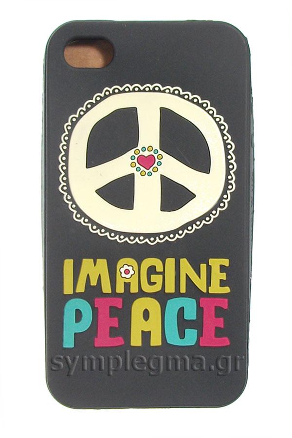 Θήκη για iPhone 4G/4GS/4S Natural Life - Imagine peace PCV006
