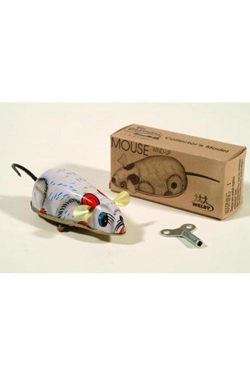 Ποντίκι μεταλλικό ρετρό κουρδιστό Y061