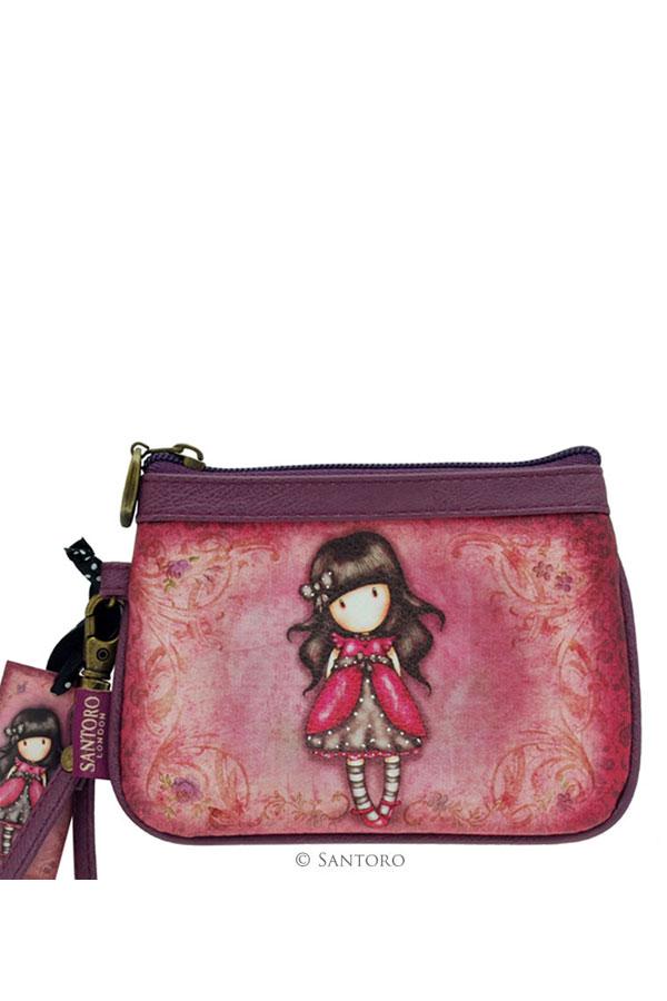 Πορτοφόλι με φερμουάρ Santoro gorjuss - Ladybird 339GJ05