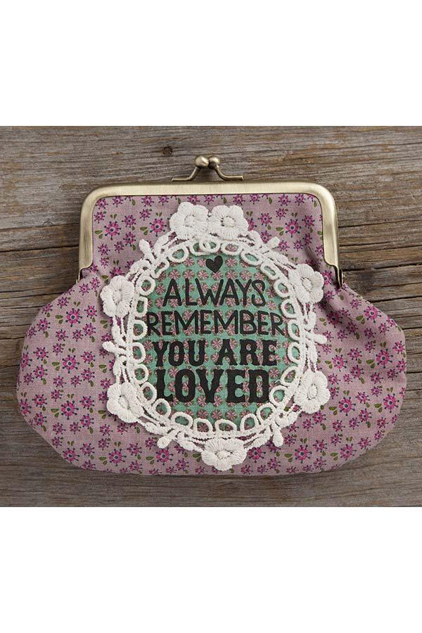 Πορτοφόλι με κούμπωμα Natural Life Always remember you are loved CPRS108