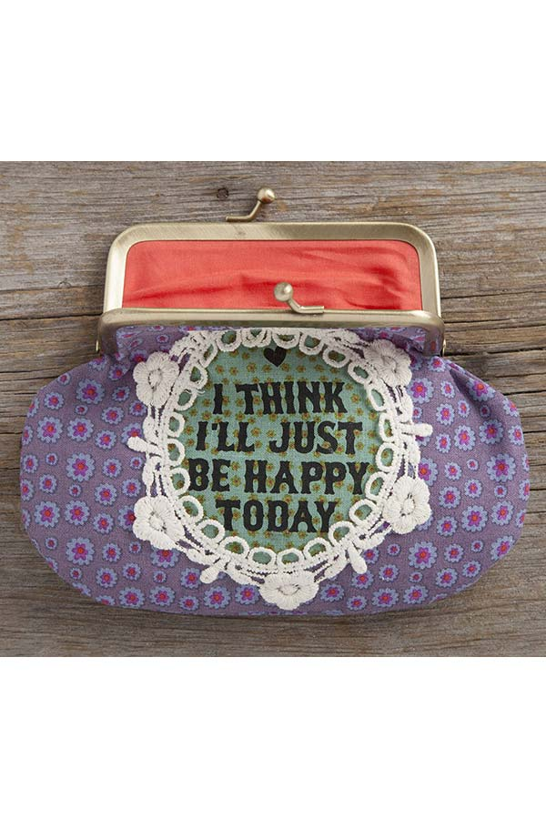 Natural Life Πορτοφόλι με κούμπωμα I think i΄ ll be happy today CPRS109