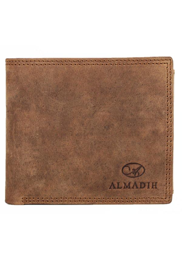 Πορτοφόλι δερμάτινο αντρικό Almadih καφέ P14