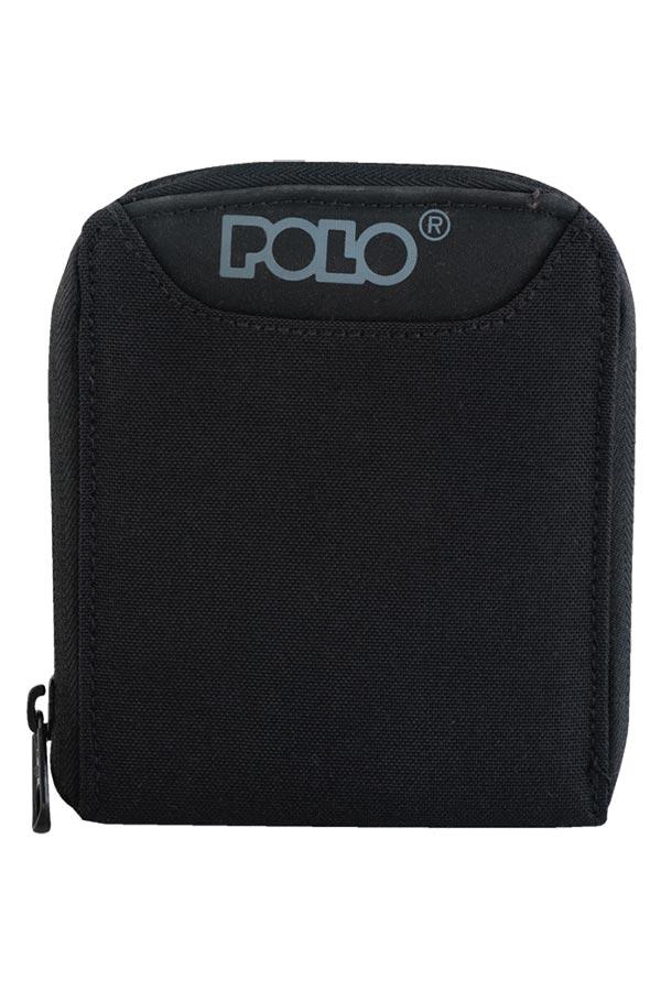 Πορτοφόλι με φερμουάρ POLO μαύρο 93810800