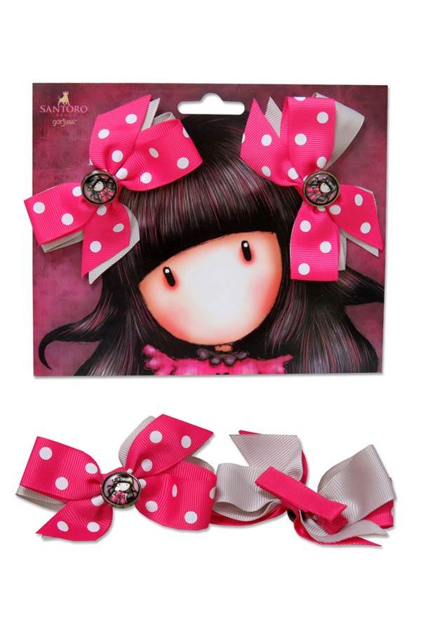 Κοκαλάκια κλιπ μαλλιών Santoro gorjuss - Ladybird HP-01-G