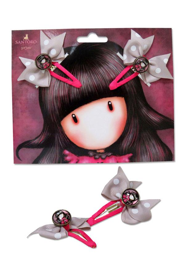 Κοκαλάκια κλιπ μαλλιών Santoro gorjuss - Ladybird BO-01-G