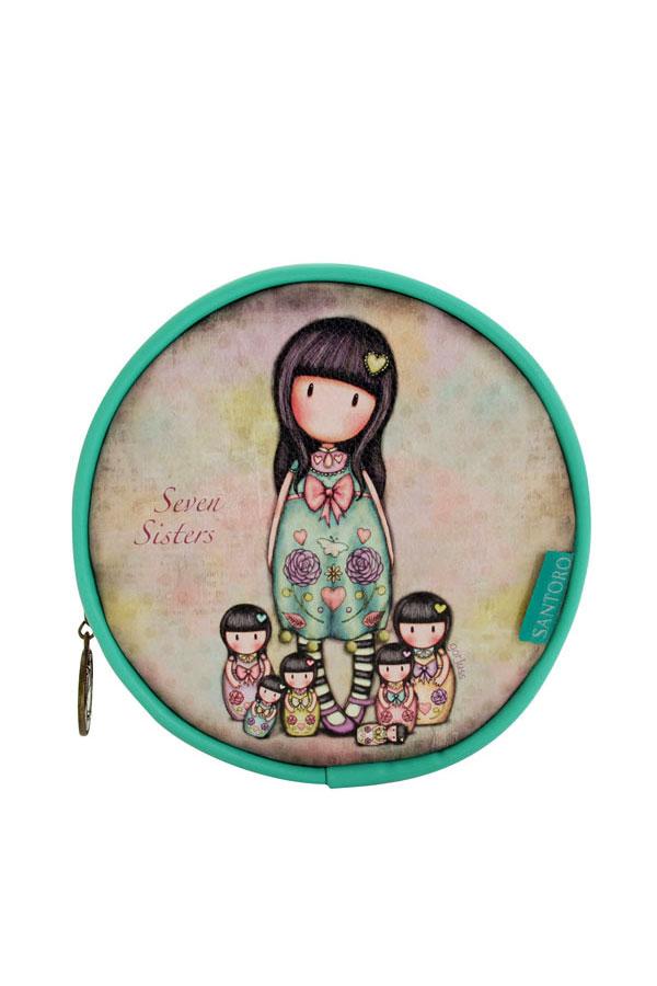 Νεσεσέρ πορτοφόλι στρογγυλό δερματίνη Santoro gorjuss - Seven sisters 662GJ01