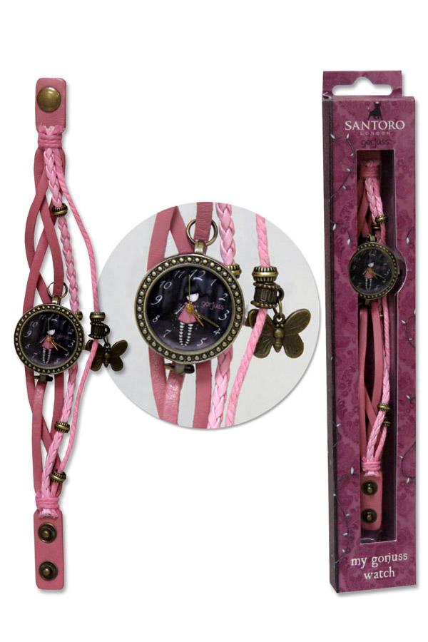 Ρολόι χειρός λουράκι Santoro gorjuss - Fairy lights W-04-G