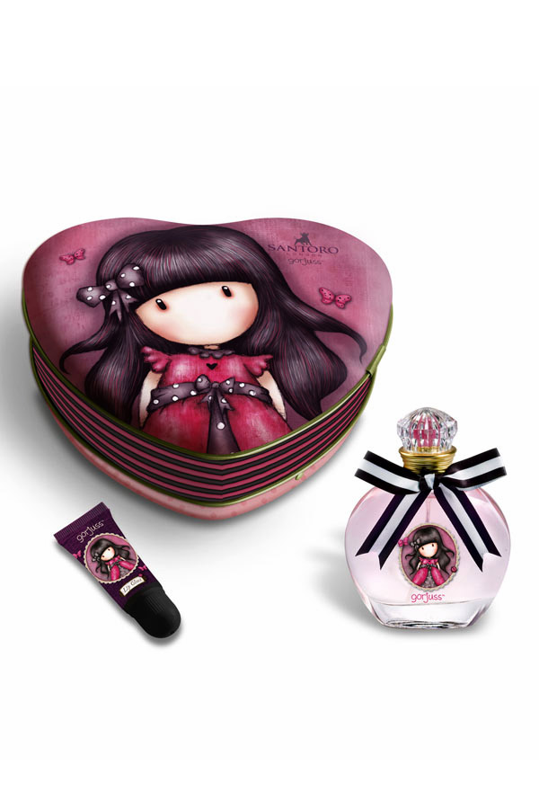 Santoro gorjuss Κουτί με κολόνια και lip gloss Ladybird LOR-6167