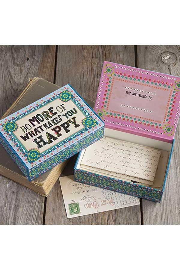 Χάρτινο κουτί μεγάλο Natural Life Do more of what ... CBX008