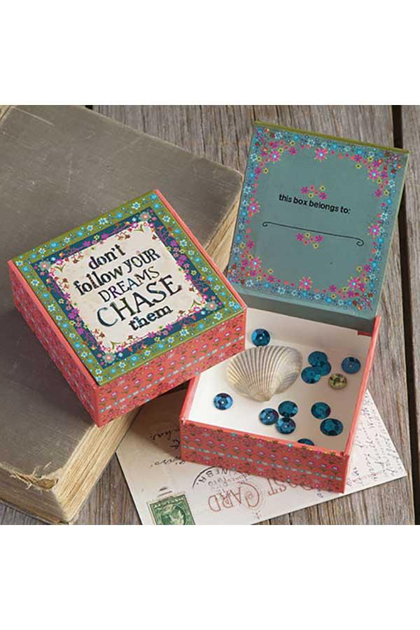 Χάρτινο κουτί μικρό Natural Life don΄ t follow your dreams ... CBX012