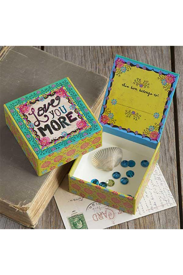 Χάρτινο κουτί μικρό Natural Life Love you more CBX013