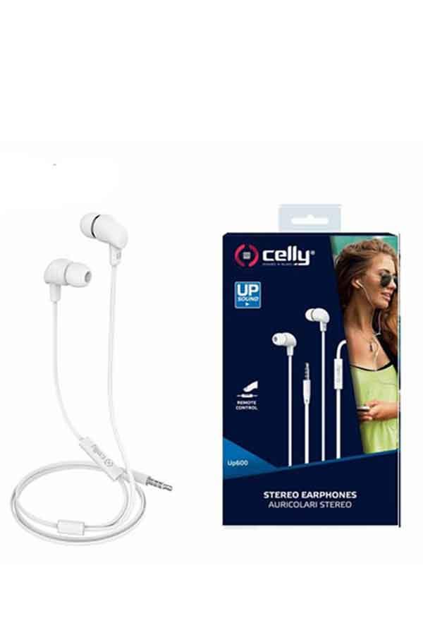 Ακουστικά με μικρόφωνο Celly λευκά up600