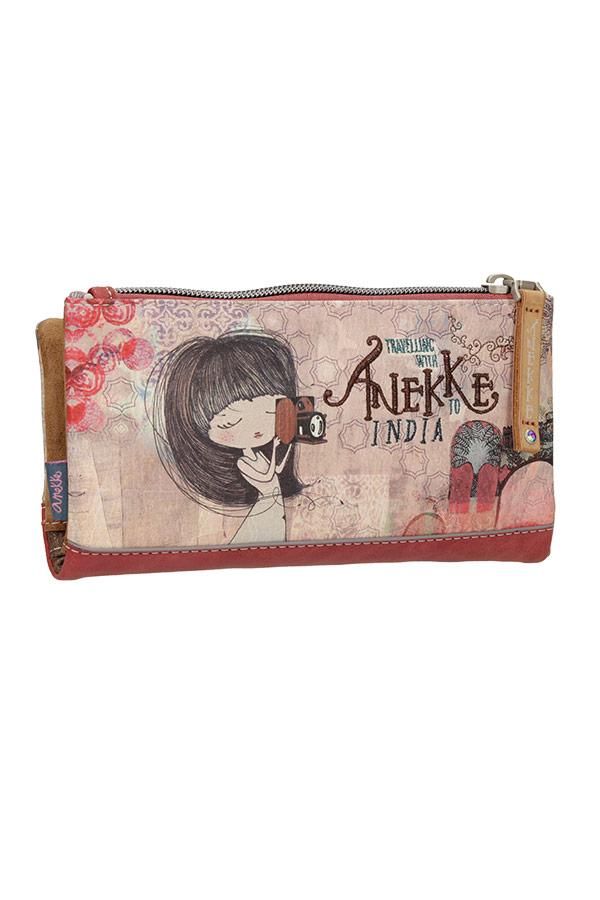 Anekke India Πορτοφόλι μεγάλο με κουμπί 28879-06