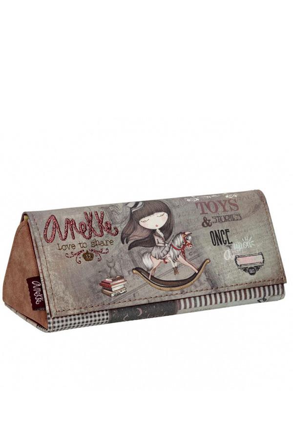 Anekke - Stories 25818-9 θήκη γυαλιών τριγωνική καφέ - γκρι