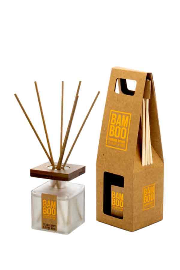 Αρωματικό χώρου bamboo 80ml Heart and Home Ξύλο κέδρου και λευκό musk 276720501