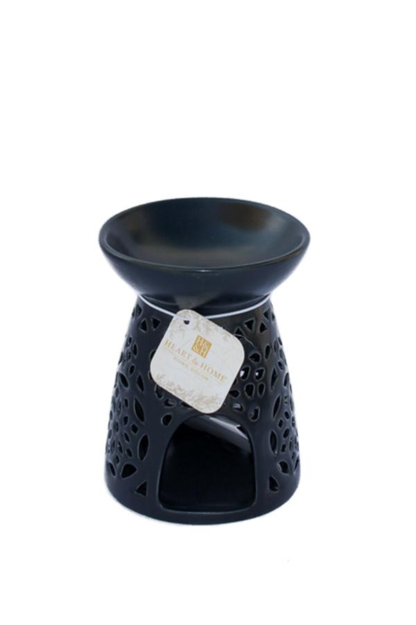 Κεραμική συσκευή καύσης 13x9,5cm Heart and Home Moroccan μαύρο 275720001