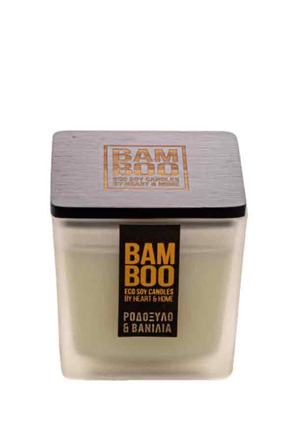 Αρωματικό κερί bamboo 210gr Heart and Home Ροδόξυλο και βανίλια 276700502