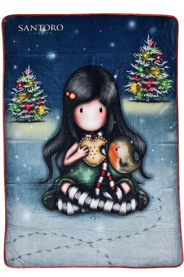 Santoro gorjuss Κουβέρτα fleece 140x210cm My christmas friends SA07254