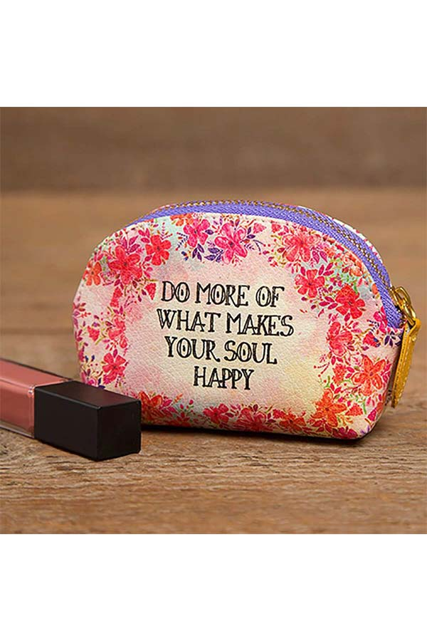 Natural Life πορτοφολάκι οβάλ Do more of what makes your soul happy BAG260