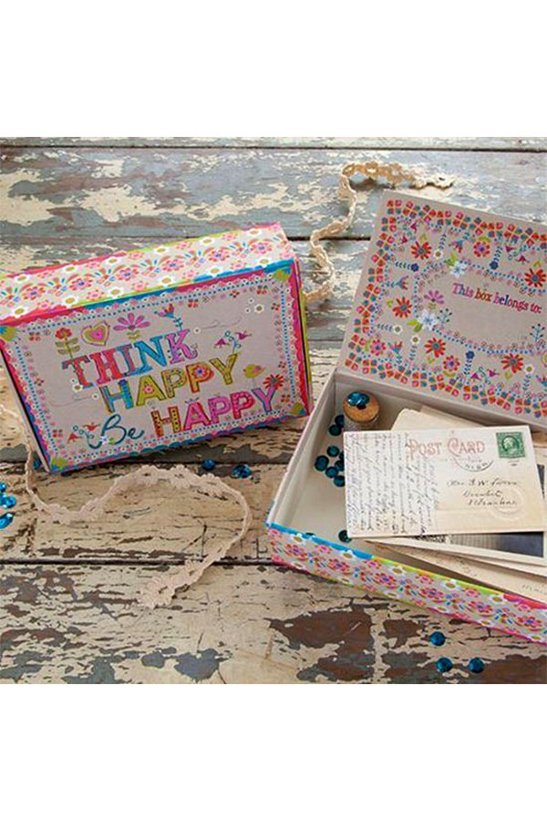 Natural Life Χάρτινο κουτί μεγάλο Think happy ... CBX003