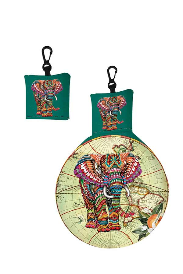 Μπρελόκ πανάκι καθαρισμού γυαλιών voyage ελέφαντας Kiub EL25Y01